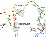 Straßensperrung auf der L 3382 zwischen Dodenau und Reddighausen.