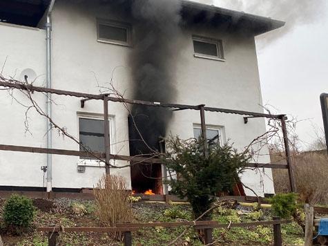In Giflitz ereignete sich am Freitagmittag ein Kellerbrand.