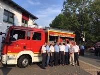Der Geismarer Feuerwehr wurde am Donnerstag ein neues MLF übergeben.