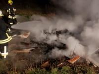 Einsatz der Lichtenfelser Feuerwehren am 18. April 2020.