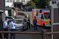 Auf einem Bauernhof in Aue kam es am Dienstagvormittag zu einem Unfall.