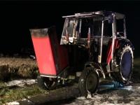 In Viermünden brannte am späten Mittwochabend ein Traktor.