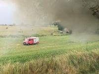 Insgesamt waren 20 Einsatzkräfte und vier Fahrzeuge der Wehren aus Adorf und Rhenegge am 12. August im Einsatz.