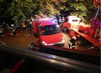 Am 1. Oktober 2020 mussten Retter, Polizei und Feuerwehrkräfte bei Basdorf eine schwerverletzte Person aus einem Abhang retten.