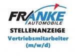 Bei Franke Automobile werden Vertriebsmitarbeiter gesucht.