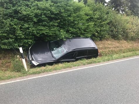 Auf der Bundesstraße 252 ereignete sich am Montag ein Unfall.
