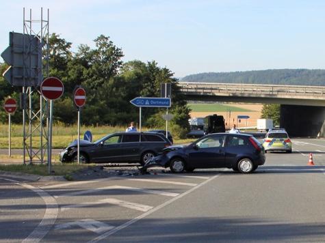 Bei Warburg ereignete sich am 24. Juli ein schwerer Unfall.