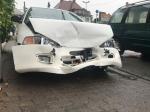 Am 4. Juni ereigneten sich zwei Unfälle im Korbacher Stadtgebiet. Auf diesem Foto ist der Mitsubishi in der Arolser Landstraße zu erkennen.