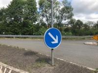 In Bad Wildungen ereignete sich am Montag ein Alleinunfall.