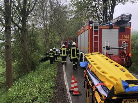 Zwischen Adorf und Benkhausen ereignete sich am Montag ein Unfall.