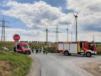 Bei Meerhof ereignete sich am Samstag ein Kranunfall. Verletzt wurde niemand.