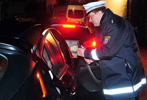 Polizeikontrolle im Landkreis Waldeck-Frankenberg.