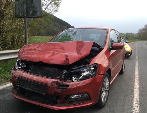 Dieser Polo wurde am 2. Mai bei einem Auffahrunfall erheblich beschädigt.