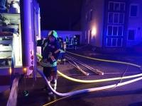 Feuerwehrleute im Einsatz: Am Mittwoch löschten die Kameraden einen Kellerbrand.