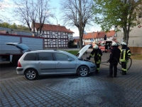 In Giflitz brannte am Samtagnachmittag ein Fahrzeug.