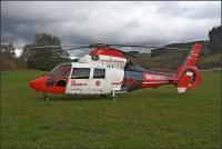 """Rettungshubschrauber """"Christoph Gießen"""" konnte heute erneut den Bad Berleburger Krankenhauslandeplatz nicht anfliegen und musste an die B 480 ausweichen."""