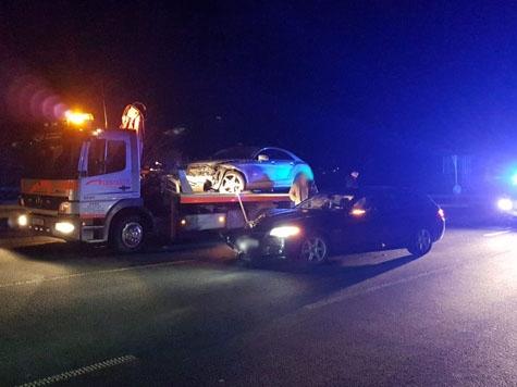 Am 16. Februar kam es zwischen Frankenberg und Bottendorf zu einem Unfall mit hohem Sachschaden.