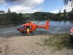 Ein Rettungshubschrauber war am Habichtsee im Einsatz.