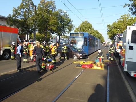 Eine Person kam in Kassel am 22. September 2020 bei einem Verkehrsunfall zu Tode.