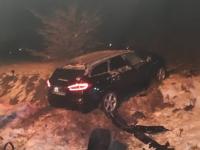 Ein Unfall am 20. Januar 2019 auf der Bundesstraße 253, rief die Frankenberger Polizei auf den Plan