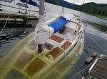 Am 18. Juni 2020 sank ein Segelboot an einer Steganlage im Edersee.