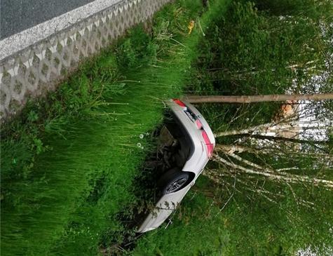 Dieser BMW landete am 25. Mai im Böschungshang an der L 3083 zwischen Eppe und Lengefeld.