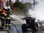 In Allendorf (Eder) brannte am Dienstag ein Quad komplett aus.