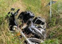 Zwischen Altenlotheim und Frankenau verunfallte am Donnerstag ein Motorradfahrer.