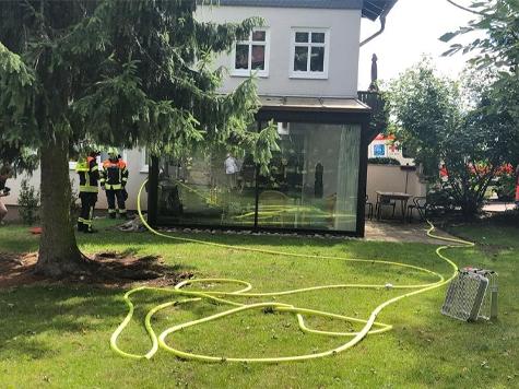 In Frankenberg brannte am Montag ein Wintergarten.