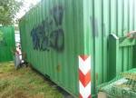 In Bad Wildungen wurden am Wochenende Container mit Farbe besprüht.