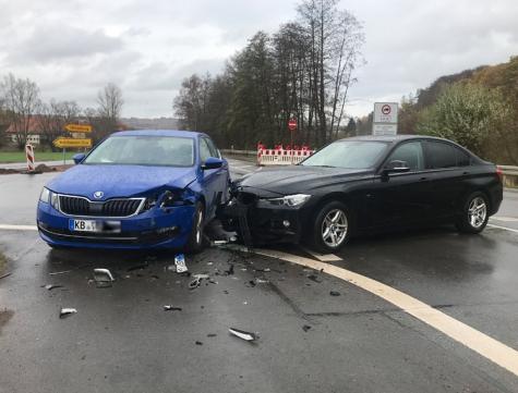 Am 19. November 2020 ereignete sich ein Verkehrsunfall am Mühlhäuser Hammer.