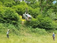 Bei Essentho ereignete sich am Samstag ein Verkehrsunfall.