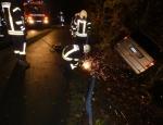 Glück im Unglück hatte eine Frau aus Waldeck am 23. Oktober auf der Edersee-Randstraße.