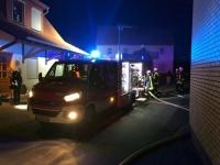 Die Feuerwehr wurde Freitagnacht zu einem Brand in Wethen alarmiert.