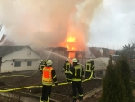 Am 1. Januar brannte eine Scheune in Ehringen