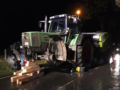 Unfall zwischen Goddelsheim und Rhadern am 15. Oktober 2019.