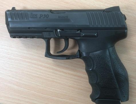 Eine Dienstwaffe der Polizei im Kaliber 9x19 von Heckler und Koch