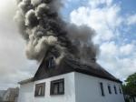 In Kassel ereignete sich am Montag ein Dachstuhlbrand.