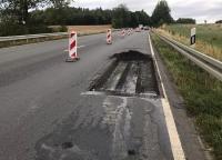 Auf der Ortsumgehung Korbach (B252) kommt es zu Verkehrsbehinderungen.