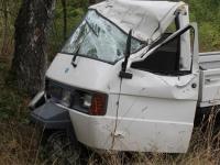 Ein Unfall mit einem Piaggio-Transporter ereignete sich am 7. September 2019 bei Brilon.