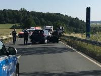 Schwerer Verkehrsunfall auf der Bundesstraße 252 bei Frankenberg am 30. Juni 2019