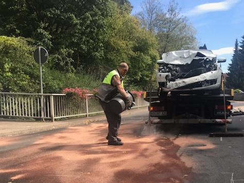 Am 3. September eieignete sich ein Unfall in der Ortslage von Reitzenhagen.