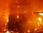 Im Gudensberger Ortsteil Deute (Schwalm-Eder-Kreis) brannte am 23. Dezember eine Scheune - über 100 Einsatzkräfte bekämpften das Feuer.