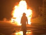 In Höxter brannte am Wochenende ein Kiosk komplett  nieder.