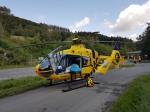 Mit einem Helikopter wurde der Verletzte in eine Klinik geflogen