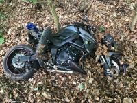 Zu schnell unterwegs war ein 27-jähriger Motorradfahrer auf der Bundesstraße 252 am 19. Mai 2019
