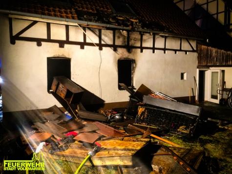 Ein Wohnungsbrand in der Volkmarser Altstadt rief die Freiwillige Feuerwehr auf den Plan.