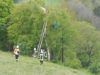 Bei Obermarsberg musste ein Gleitschirmflieger gerettet werden.