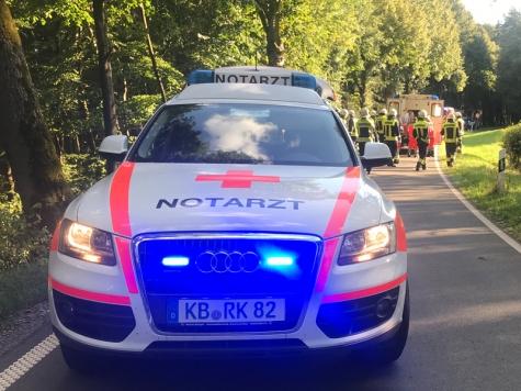 Am 1. Oktober rückten Notarzt, Polizeikräfte und Retter zu einem Unfall oberhalb des Twistesees aus.
