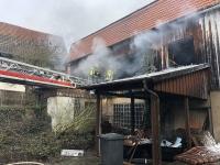 In Sachsenberg kam es am Dienstagmorgen zu einem Brand.
